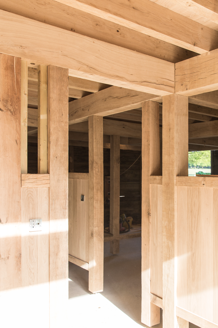doorway within the timber structure